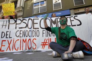 Spain Anti-Eviction Protest Nov 2012 2