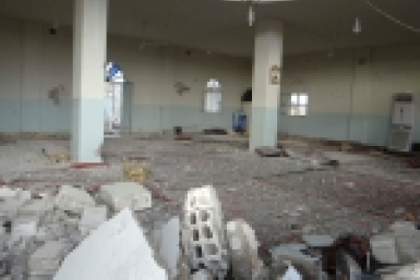 Syria mosque bombed