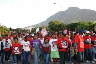AIDS victims in South Africa
