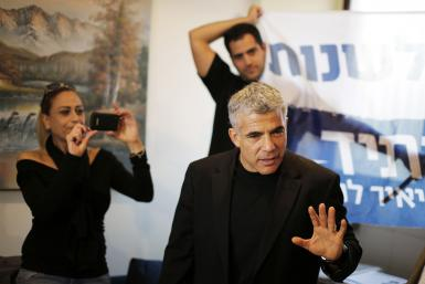 Yesh Atid party leader Yair Lapid