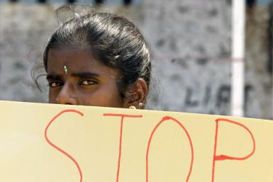 Sri Lankan Woman Protests Rape