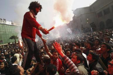 Protestors in Port Said, Egypt