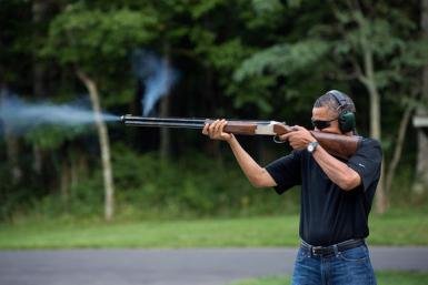 U.S. President Barack Obama-Gun Photo