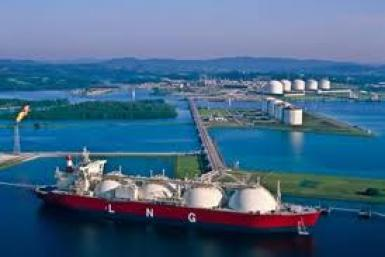 LNG tanker at dock