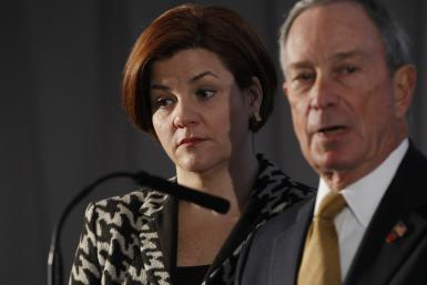 Christine Quinn and Mike Bloomberg