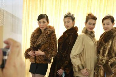 Models Wear Fur In Hong Kong