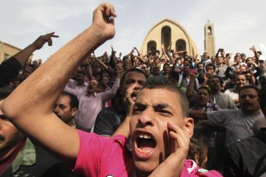 Coptic protest in Cairo