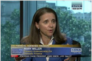 U.S. Treasury Undersecretary Mary Miller
