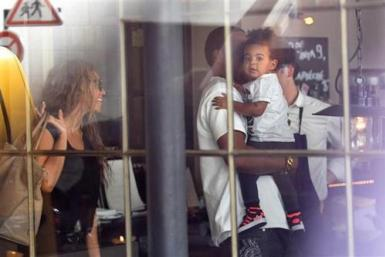 Beyoncé, Jay-Z And Blue Ivy In Paris
