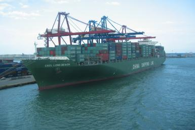 China Shipping Container Lines Ship