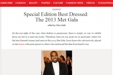 West On Vogue Best-Dressed List