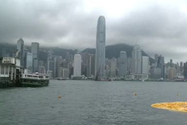 Giant Yellow Rubber Duck Deflates In Hong Kong