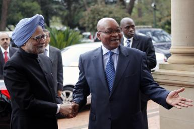 Singh and Zuma in Africa