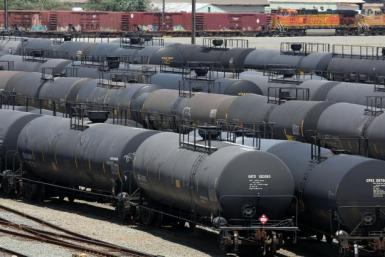 Oil Railcars Chevron Calif 2013 Getty Image
