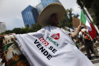 Anti-Pemex reform protest