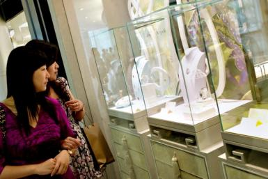 China shopping mall diamonds AFP