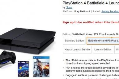 PS4 Sold Out Amazon