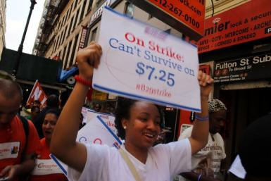 Minimum Wage US NY 2013 Getty