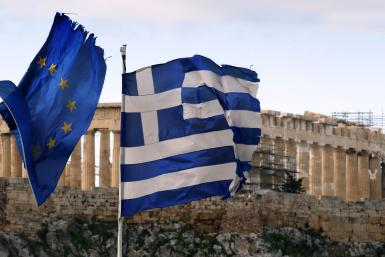 Greece Euro Zone Flags
