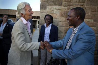 Christine Lagarde in Kenya