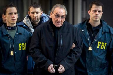 Vincent Asaro was escorted by F.B.I. agents on Thursday after five members of the Bonanno crime family were indicted on various charges.