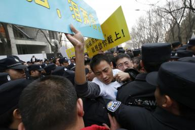 Malaysian Embassy Protests- Beijing