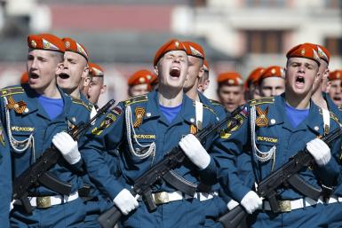 Russia civil defense troops