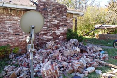 Oklahoma Prague Earthquake Damage