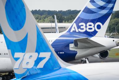 Farnborough Airshow 787 A380