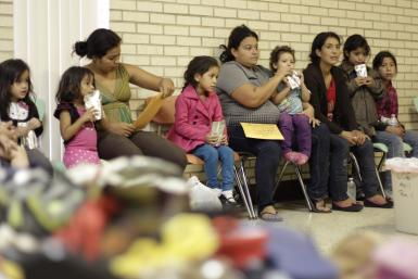 Migrant Families in McAllen Shelter