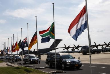 MH17-Convoy Of Hearses-July 24, 2014