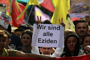 Kurdish Demonstrator-Aug. 9, 2014