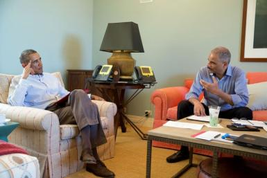 President Obama Meets With Eric Holder