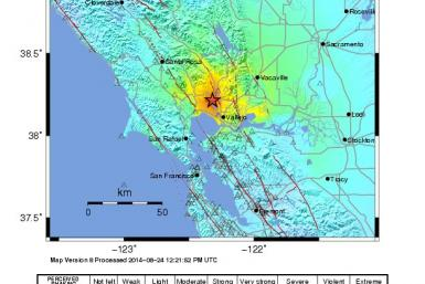California Earthquake Shakemap-14.08.24