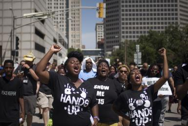 activists protesting Michael Brown shooting