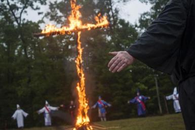 klan cross burning