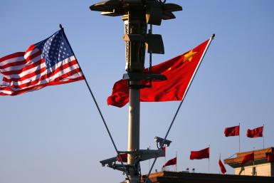 US and China flag