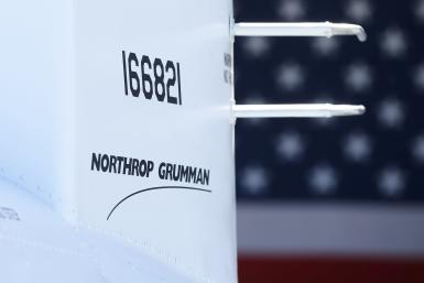 Northrop Grumman logo on one of it unmanned aircraft