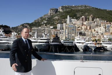 Prince Albert II of Monaco poses as he attends the 25th Monaco Yacht show