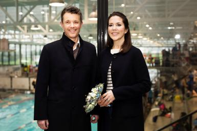 Denmark's Crown Princess Mary along with Crown Prince Frederik