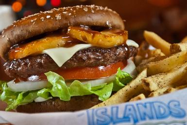 The Hawaiian Burger at Islands