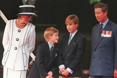 Princess Diana and Princes Harry, William and Charles