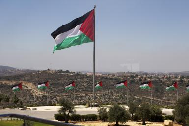 Palestinian flag west bank
