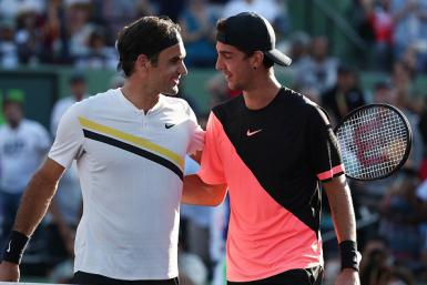 Roger Federer and Thanasi Kokkinakis