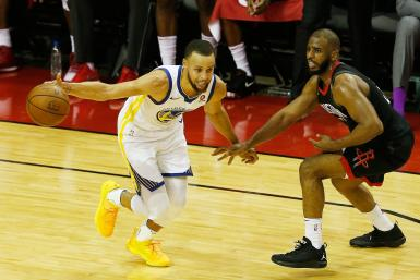 Stephen Curry Chris Paul Warriors Rockets