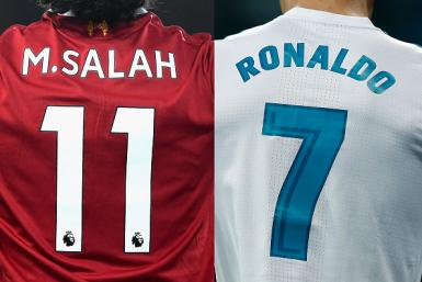 Mohamed Salah and Cristiano Ronaldo