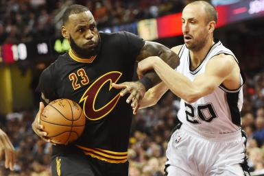 LeBron James and Manu Ginobili