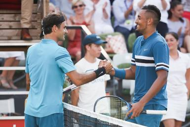 Roger Federer and Nick Kyrgios