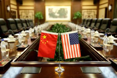 US Flag, China Flag