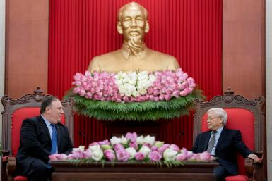 U.S. Secretary of State Mike Pompeo meets with Vietnamese Communist Party General Secretary Nguyen Phu Trong